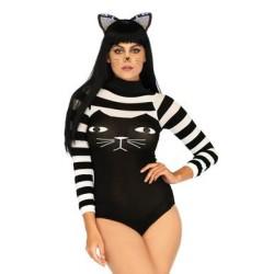 Striped Cat Bodysuit - One Size