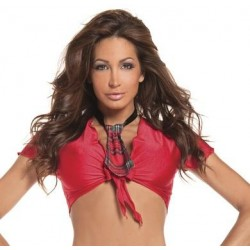 Red School Girl Tie Top - One Size