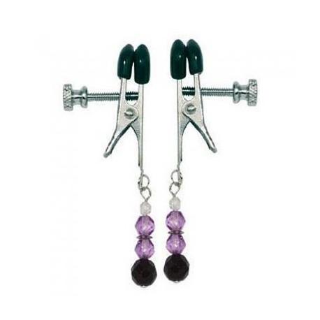 Purple Beaded Clamps- Adjustable Broad Tip