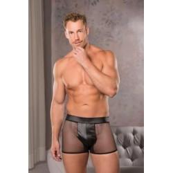 Fishnet Shorts - Black - Large/ Extra Large