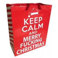 Keep Calm & Merry Fucking Christmas - Gift Bag