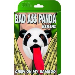 Bad Ass Panda Bikini - One Size - Black
