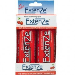 Extenze Male Enhancement Shooters - 2 Ct.  - Big Cherry Flavor - 2 Fl Oz