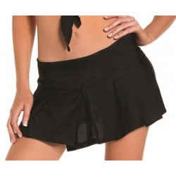 Black Pleated School Girl Skirt - Medium/ Large