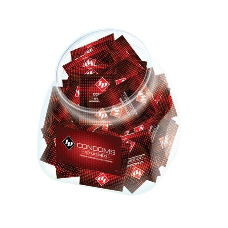 Id Studded Condoms Jar -  - 144 Pieces