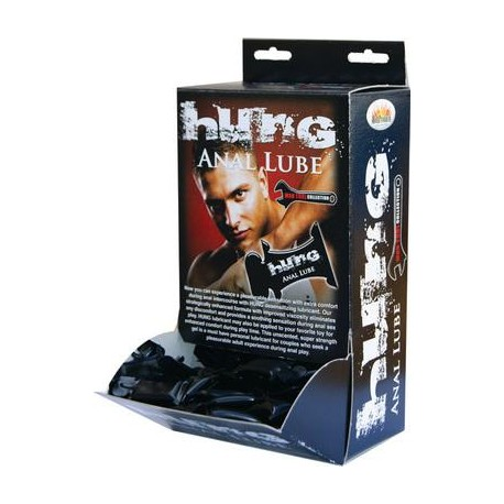 Hung Anal Lube 10ml Pillow Packs - 50 Pieces Display