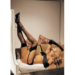 Sheer Thigh High - Black -  One Size