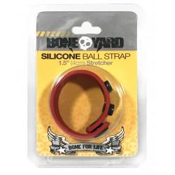 Boneyard Silicone Ball Strap 4cm Stretcher - Red