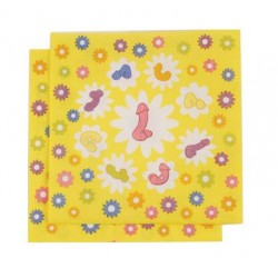 Super Fun Penis Party Napkins 2 Ply- 8 Count