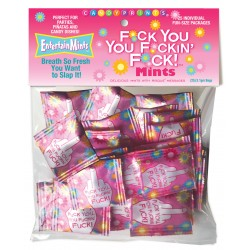 F*Ck You You F*Ckin' F*Ck Mints! 25 Individual Fun Size Packages