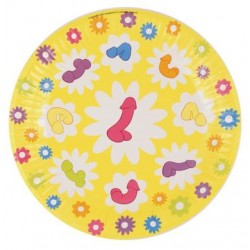 Super Fun Penis 7-inch Party Plates - 8 Count