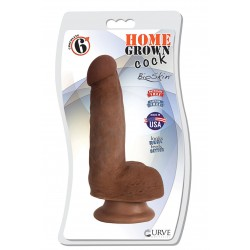 "6"" Home Grown Cock - Chocolate"