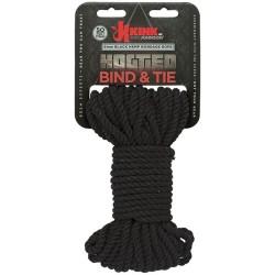 Hogtied - Bind & Tie - 6mm Hemp Bondage Rope - 50 Feet - Black