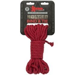 Hogtied - Bind & Tie - 6mm Hemp Bondage Rope - 30 Feet - Red