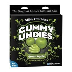 Edible Male Gummy Undies - Green Apple