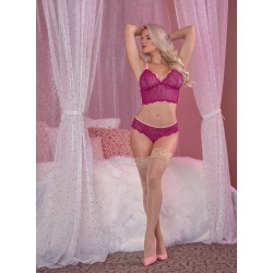 Cranberry Crush Bralette & Cheeky Panty Set -  L/xl