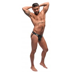 Black Ice Lace Up Thong - Xl