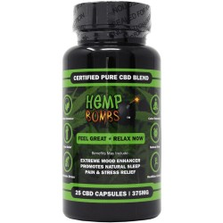 Hemp Bombs Capsules 25 Ct Bottle 375mg