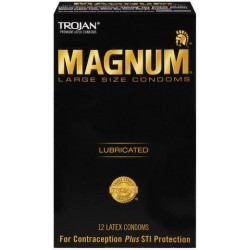 Trojan Magnum Large Condoms - 12 Pack TJ64212