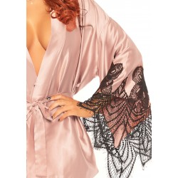 Satin Robe Set - Rose - Medium/large