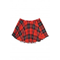 Lit Af Plaid Skirt - Red Plaid - S/m