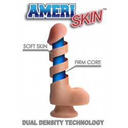 9 Inch Ultra Real Dual Layer Suction Cup Dildo - Medium Tone Skin