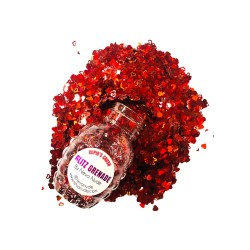 Cupid's Crush Cosmetic Glitter Glitz Grenade Keychain in Aloe Gel