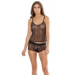 Cami Top and Shorts Set - Black - One Size