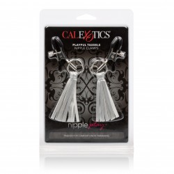 Nipple Play Playful Tassels Nipple Clamps -  Silver