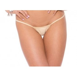 Low Back Tee Thong - Nude -  One Size