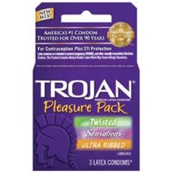 Trojan Mix Condom Pleasure - 3 Pack