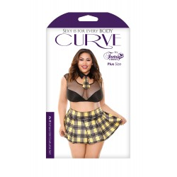 As if School Girl Costume Set - Black/ Yellow -  1x2x