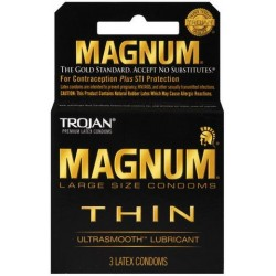 Trojan Magnum Thin Lubricated Condoms - 3 Pack