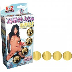 Ben Wa Balls on a String Gold