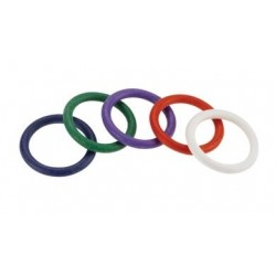 Rainbow Rubber C Ring 5 Pack  1.25 Inch