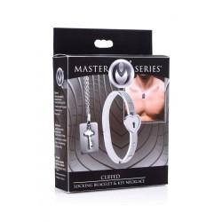 Cuffed Locking Bracelet and Key Necklace