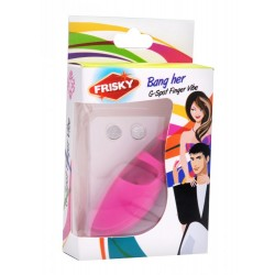 Bang Her Silicone G-Spot Finger Vibe Pink
