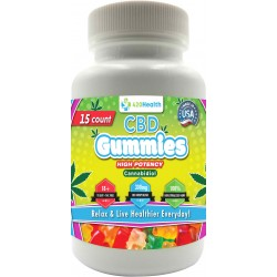 420 Health Hemp Gummies - 15ct - Bottle - 300mg  20mg Per Serving