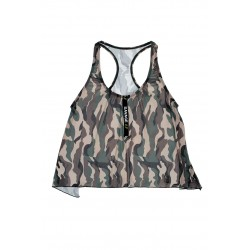 Savage Af Swing Top - Forest Camo - M/l