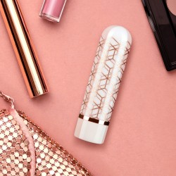 The Collection - Glitzy Geo - Rechargeable Bullet  - Rose Gold