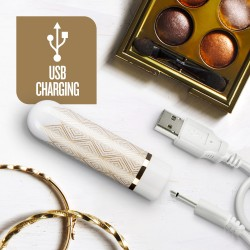 The Collection - Glitzy Deco - Rechargeable Bullet - Gold
