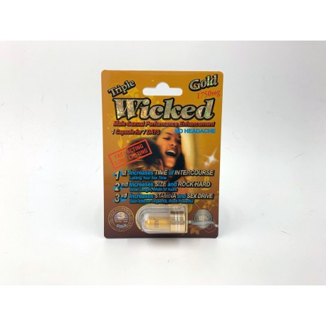 Wicked Gold 1750mg Male Sexual Enhancement - Single Capsle Blister