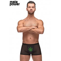 Private Screening Pot Leaf Pouch Short Black Small