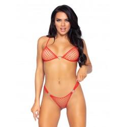 2 Pc Industrial Net Bikini Set - One Size - Red