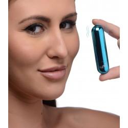 10x Rechargeable Vibrating Metallic Bullet - Blue