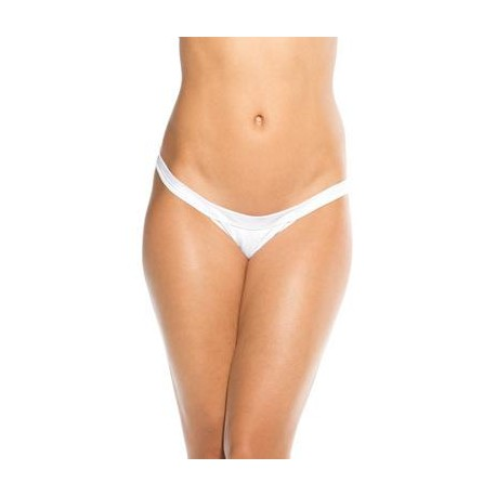 Wide Strap Panty  - White -  One Size