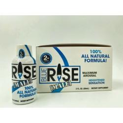 Blue Rise Shot - 12 Liquid Bottle Male Sexual  Enhancement Display -  2 Fl. Oz.