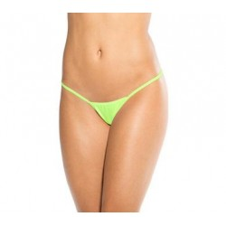 Micro Low Back Tee Thong  - Neon Green - One Size