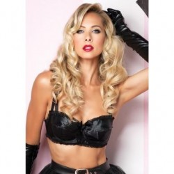 Satin Bullet Bra - Medium
