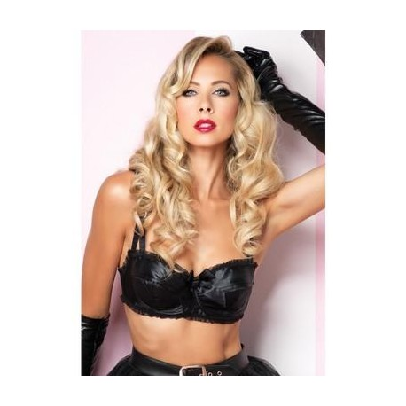 Satin Bullet Bra - Large